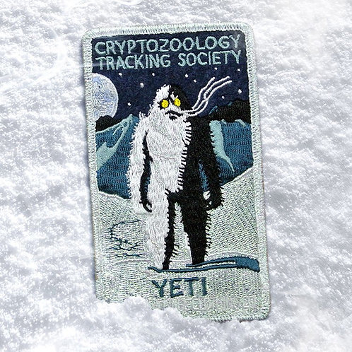 Yeti – Embroidered Cryptozoology Patch (Iridescent)
