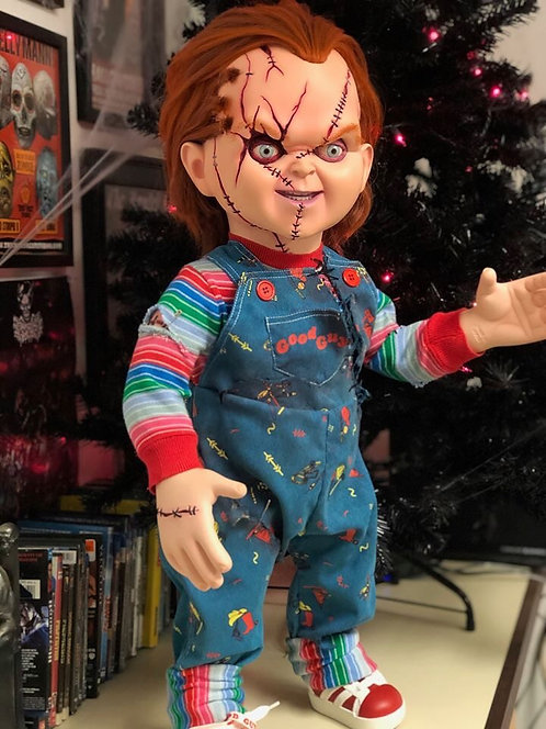 TRICK OR TREAT STUDIOS CHILD'S PLAY:  SEED OF CHUCKY - SCARRED CHUCKY DOLL