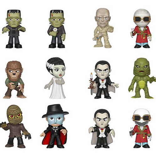 Funko Universal Monsters Mystery Minis Vinyl Figures – Sealed Display Case of 12