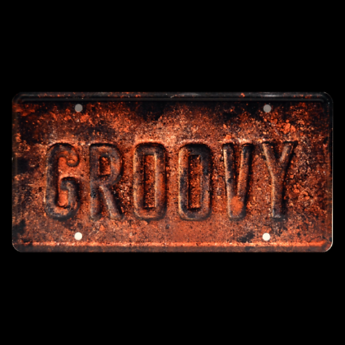 Ash vs. Evil Dead – Ash's Oldsmobile GROOVY Metal Stamped Replica License Plate