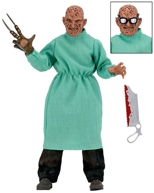 "NECA Nightmare on Elm Street Part IV - Surgeon Freddy Krueger 8"" Clothed Figure"