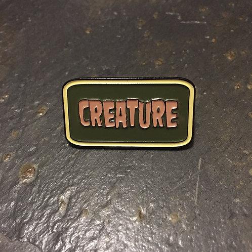 Creature Name Tag Enamel Pin