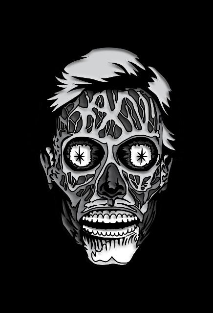 They Live – Alien (Black & White) Enamel Pin