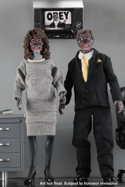 "NECA They Live – 8"" Clothed Action Figure 2-Pack"