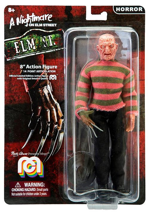 "Mego – A Nightmare on Elm Street Freddy Krueger 8"" Clothed Action Figure"