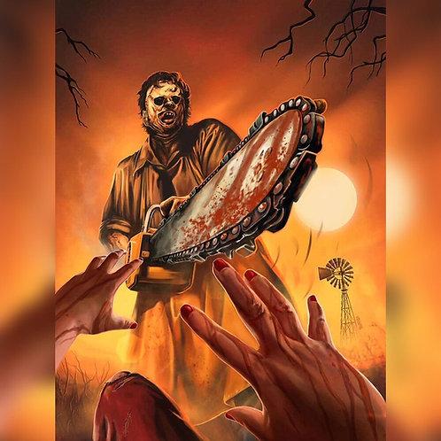 "Spook House Studios – The Texas Chainsaw Massacre Art Print (18"" x 24"")"