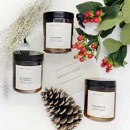 Scented Soy Candle Gift Set of 2 or 3