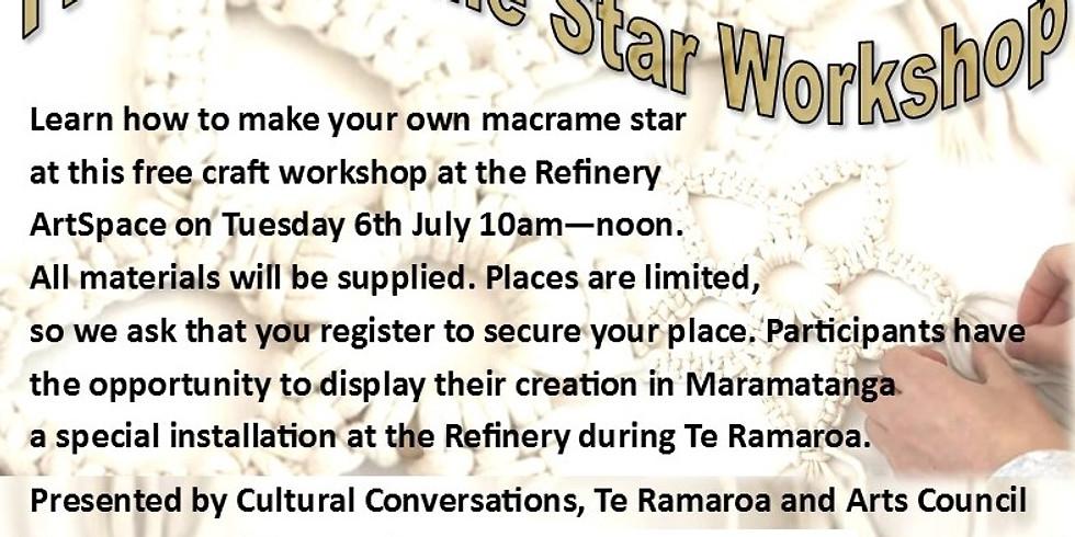 Free Macrame Star Workshop