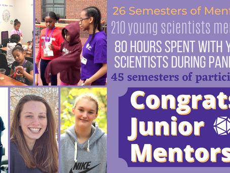 Congrats to Our Graduating Junior Mentors!