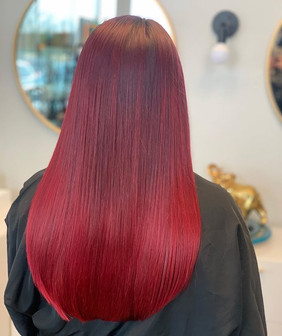 Oh hey there shiny red hair...what would