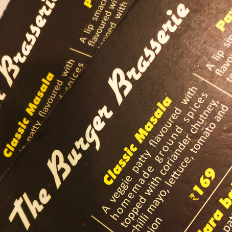 INDIANIZED BURGERS @ THE BURGER BRASSERIE