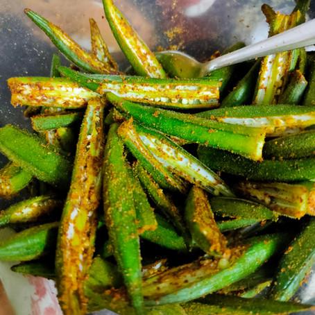 Besan Bhindi ( Dry)