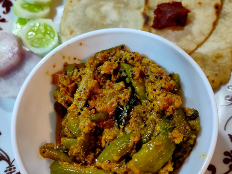 Tendlichi Masaledar Bhaaji -Maharashtrian Style ( Tinda / Ivy Gourd Sabji )
