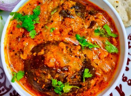 Satara Style Bharli Vangi Recipe ( Stuffed Brinjal)