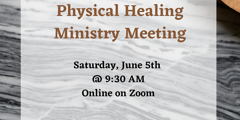 Prophetic & Physical Healing Ministry Meeting