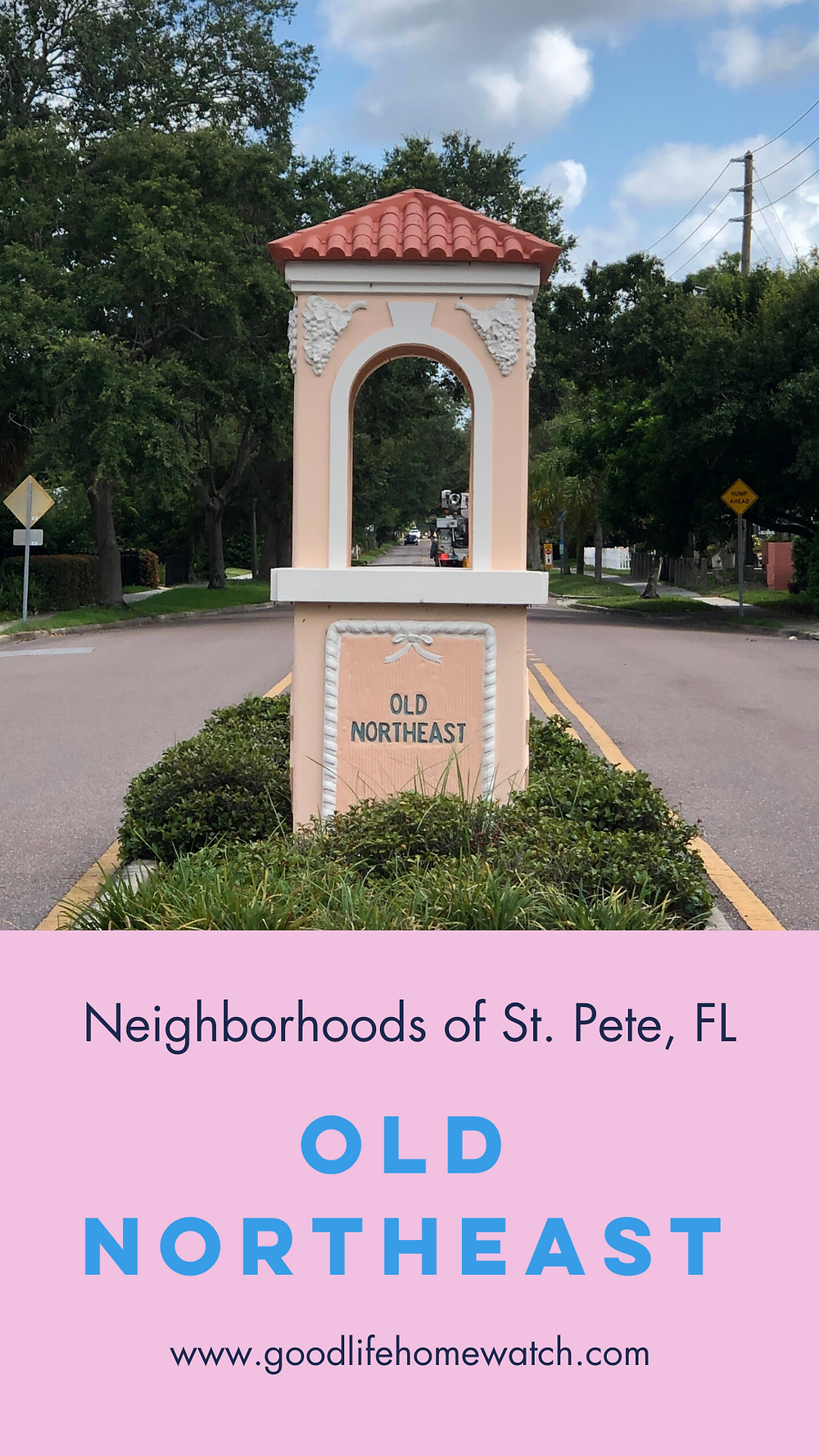 Old Northeast Neighborhood sign in St. Petersburg, FL