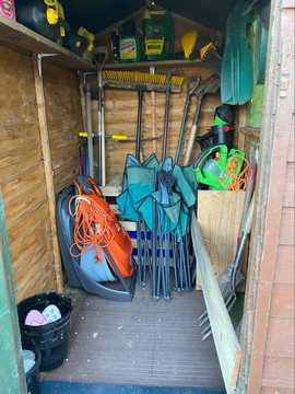 one beautifully tidy shed
