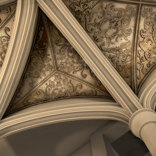 Beauty and the Beast Castle ceilings (c4d and photoshop)