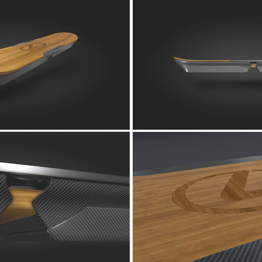 Lexus hoverboard concept (c4d and photoshop)