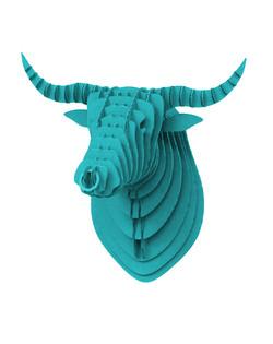 Cardboard Bull Blue