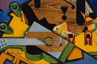 Todavía vida con una guitarra
