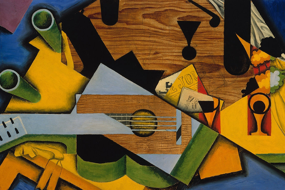 Stillleben mit einer Gitarre