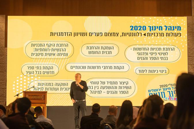 כנס עובדי חינוך, מנהל חינוך ירושלים