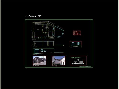 PROYECTO de edificio de DOS VIVIENDAS entre medianeras. Archivos EDITABLES