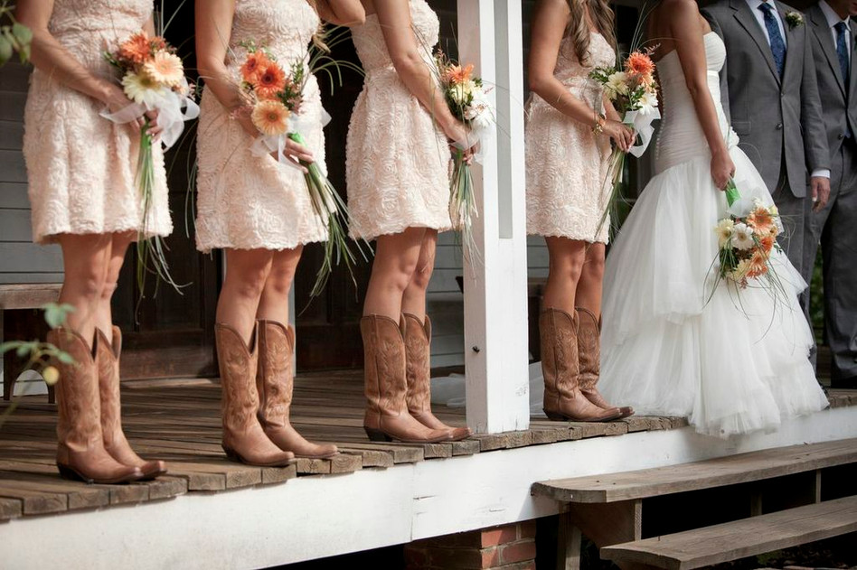 Bridesmaids in Boots