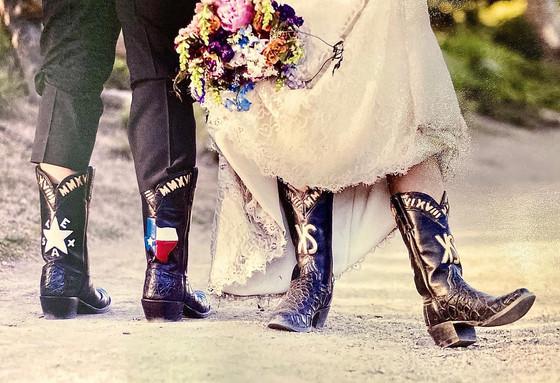 Custom Wedding Boots