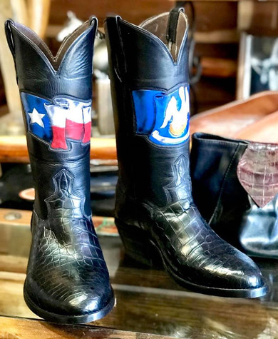 Texas & Louisianna Flag Boots