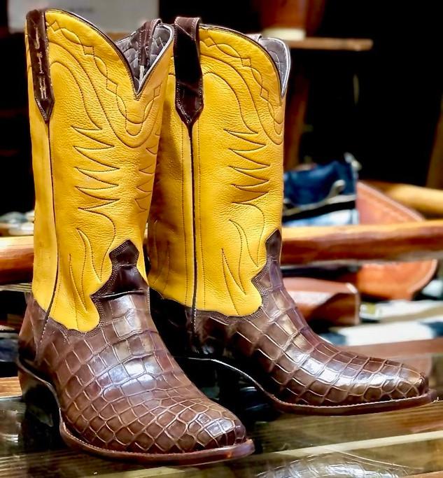 Shiner Bock inspired Custom Boots