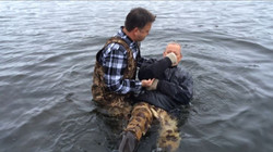 Facebook - Jimmy Bell being Baptized this morning by Mark Schutz - with Corey Ka