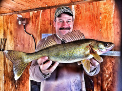 Facebook - BOOM! Abel Hein with a LOTW Walleye! Pounded the tulibees too! Walley