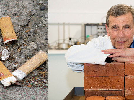 How cigarette butts can be recycled into bricks