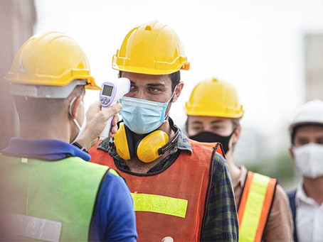 As a construction worker, how can you protect yourself and slow the spread of Covid-19
