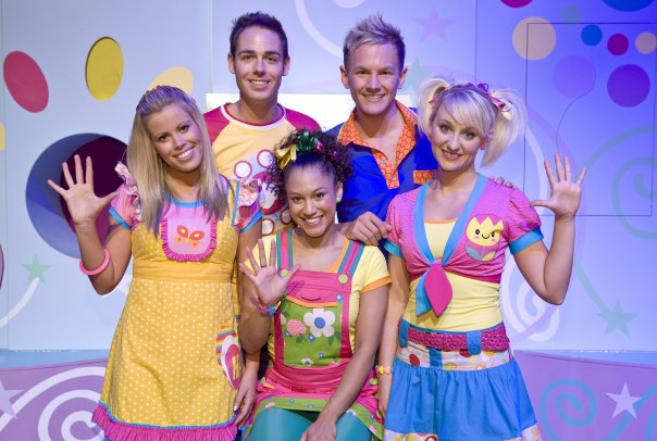 On set 'Hi-5 on Tour'