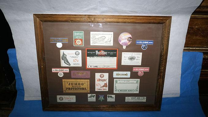 Advertising Framed Shoe Labels