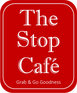 The Stop Cafe Stacked red with transpare