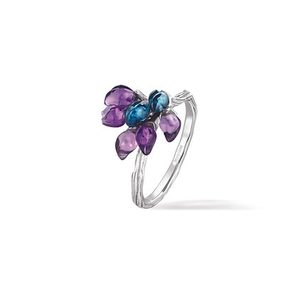 forget-me-not blossoms ring