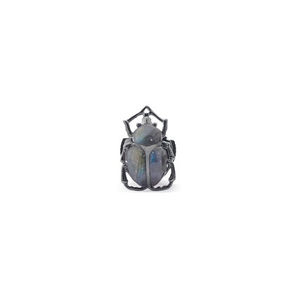 scarab insect medium ear stud front view