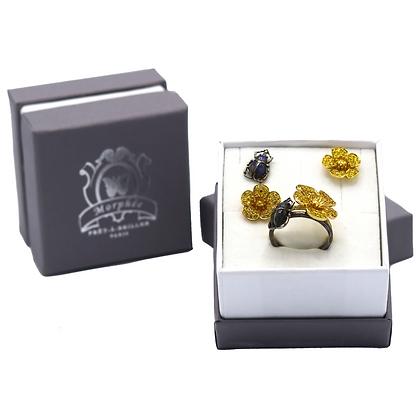 Coffret Cadeau Boutons D'or & Scarabées