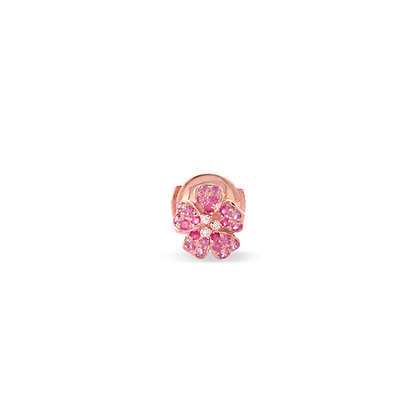 pink cherry blossom small flower stud front view