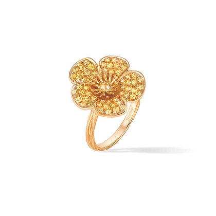 large buttercup flower ring