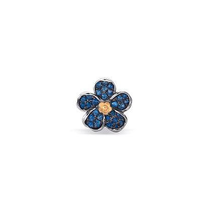 medium forget-me-not flower ear stud front view