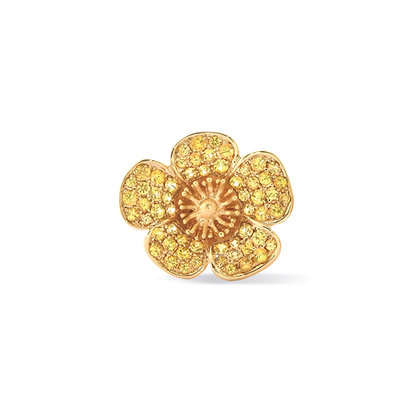 buttercup large flower ear stud front view