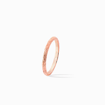 pink golden wood stackable ring