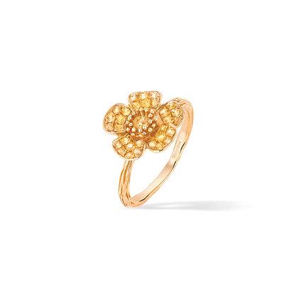 buttercups medium flower ring