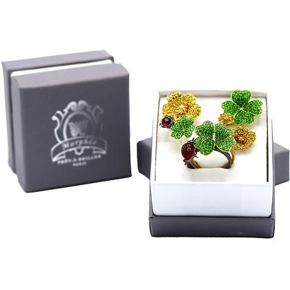 Coffret Cadeau Trèfles, Boutons D'or et Coccinelles