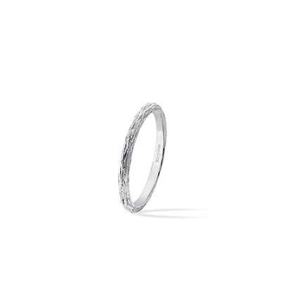 white golden wood stackable ring
